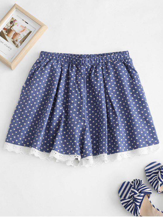 Pyjama Short Cœur à oeillets - Bleu Foncé Toile de Jean M