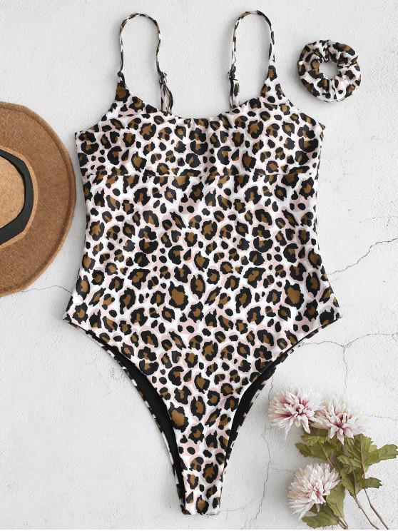 ZAFUL Leopard -Badeanzug mit Haarband - Multi S