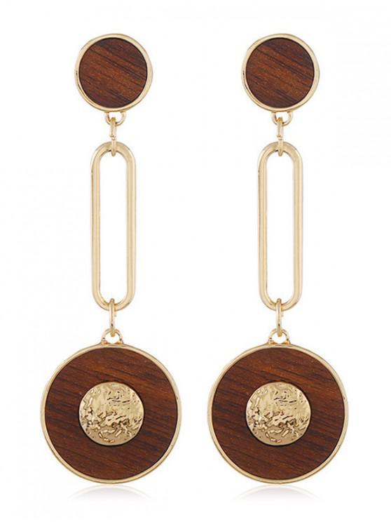 Boucles d'Oreilles Evidées en Alliage Design à Frange - Or