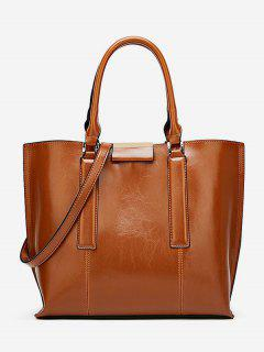 Large Capacity Magnet Hook Design Tote Bag - Brown