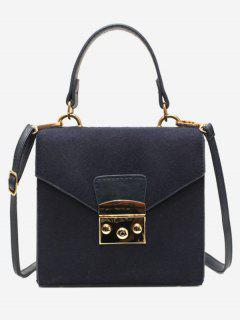 Suede Leather Decoration Cover Crossbody Bag - Deep Blue