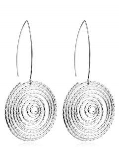 Alloy Hollow Out Geometric Hook Earrings - Silver