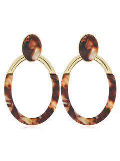Geometric Design Hollow Earrings - Gold