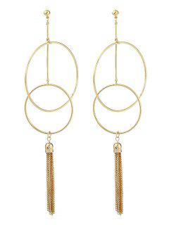 Tassel Hollow Out Dangle Earring - Gold
