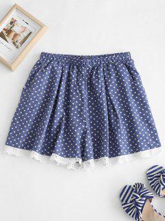 Pyjama Short Cœur à Oeillets - Bleu Foncé Toile De Jean Xl