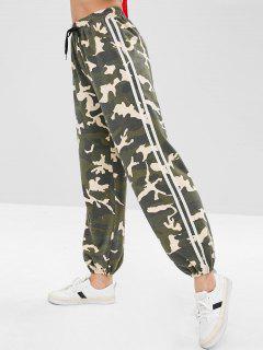 ZAFUL Camo Drawstring Jogger Pants - Acu Camouflage M