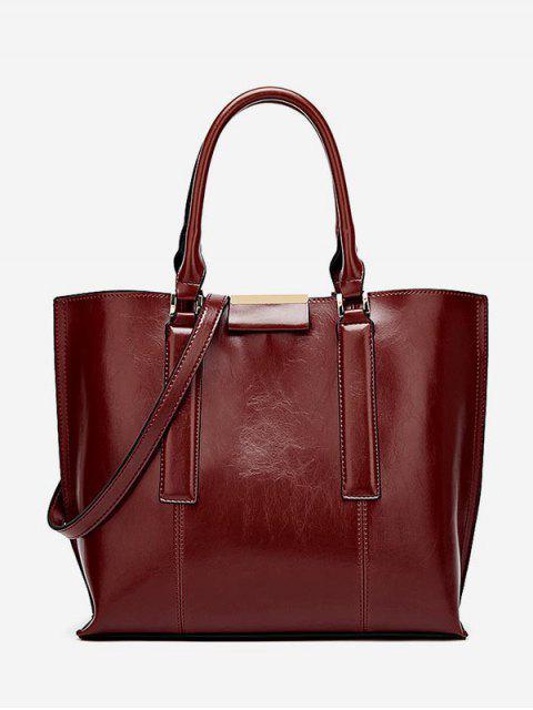 shops Large Capacity Magnet Hook Design Tote Bag - RED WINE  Mobile