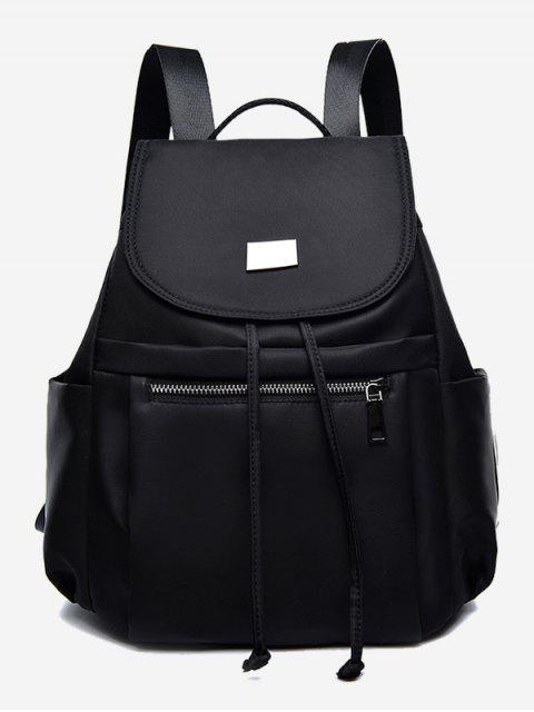 lady Nylon String Design Backpack - BLACK  Mobile