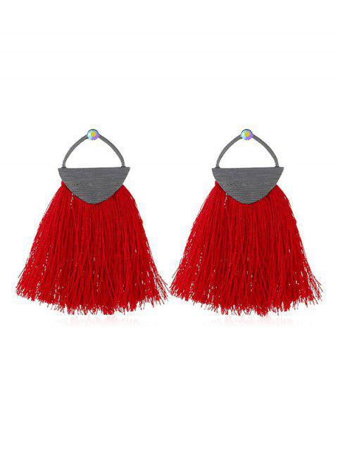 lady Tassel Bohemian Style Earrings - LAVA RED  Mobile