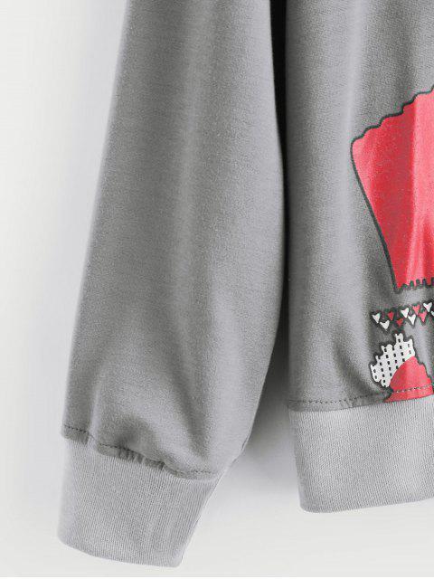 Sweat-shirtdeNoëlGraphiqueHomme - Gris XL Mobile