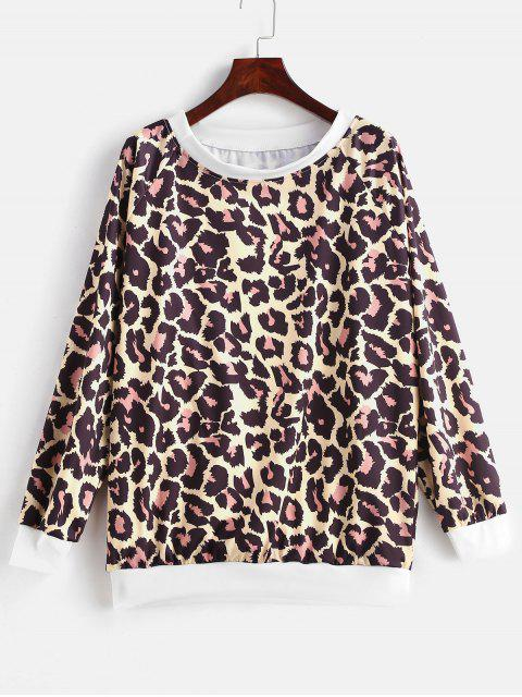 outfits Leopard Sweatshirt - MULTI-E XL Mobile