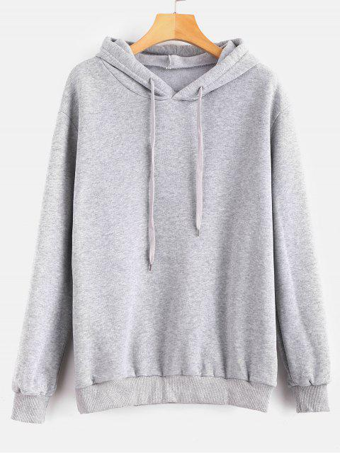 outfit Drawstring Queen Graphic Hoodie - GRAY CLOUD S Mobile