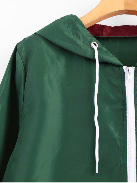fashion Hooded Windbreaker Color Block Jacket - MULTI S Mobile