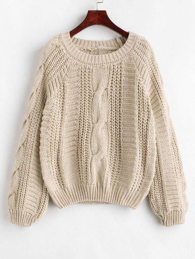 aace0d6a0d Cable Knit Chunky Sweater - Beige