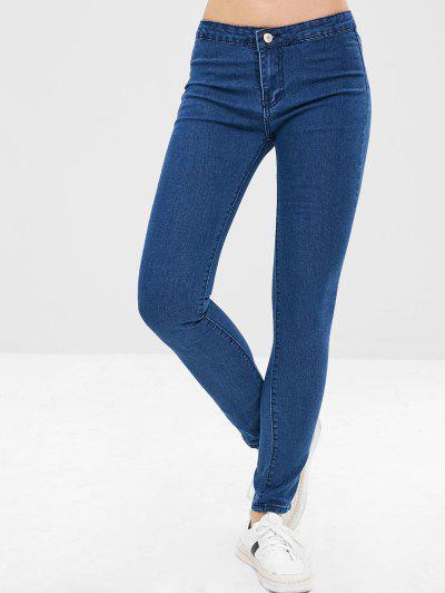 Indigo Wash Low Waisted Skinny Jeans, Deep blue