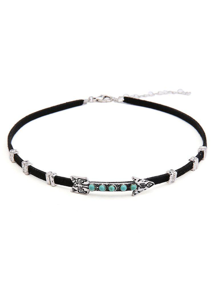 PU Leather Arrow Design Alloy Choker