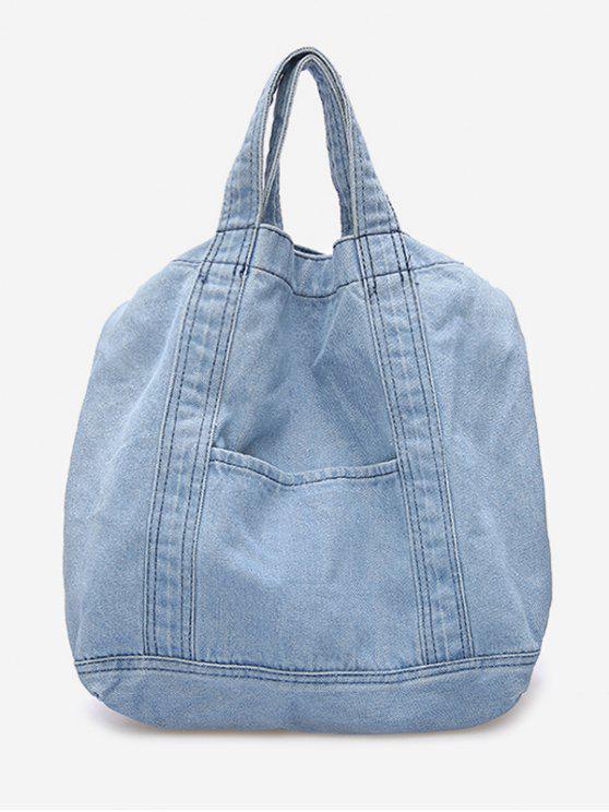 ladies Cowboy Jeans Style Handbag - SKY BLUE