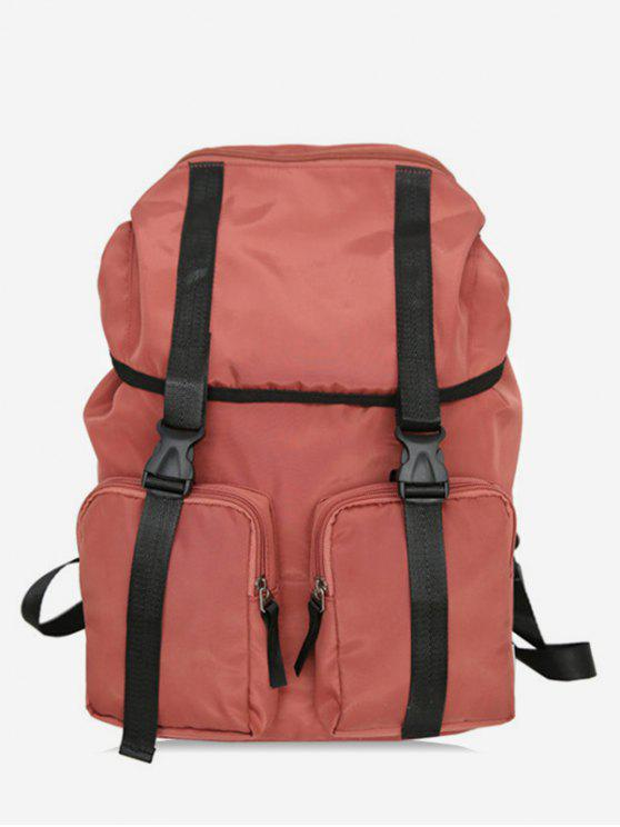 women String Design Waterproof School Backpack - CHESTNUT RED