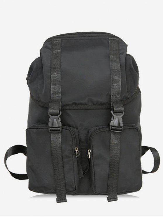outfits String Design Waterproof School Backpack - BLACK