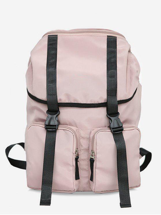 shops String Design Waterproof School Backpack - LIGHT PINK