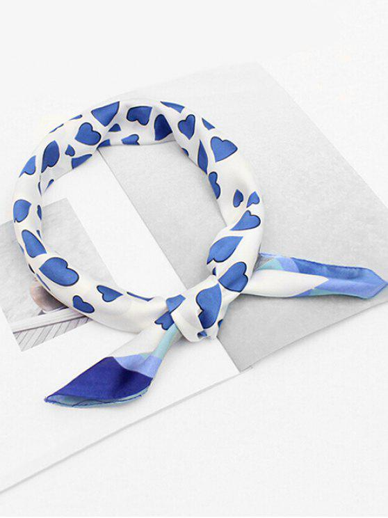 shop Sweetheart Printing Elegant Scarf - SKY BLUE