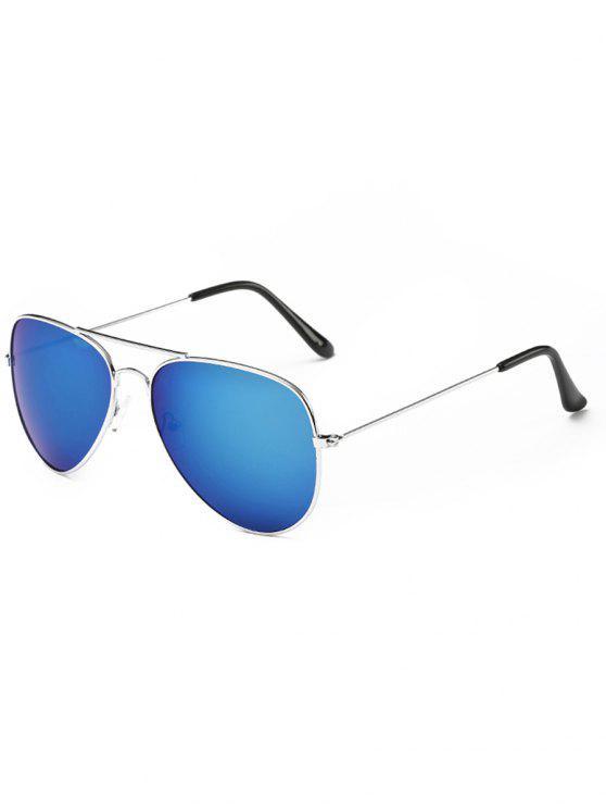 fashion Retro Crossbar Pilot Sunglasses - DENIM DARK BLUE