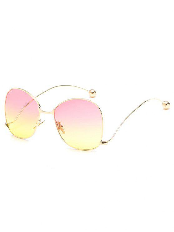 sale Novelty Metal Frame Bent Legs Sunglasses - YELLOW