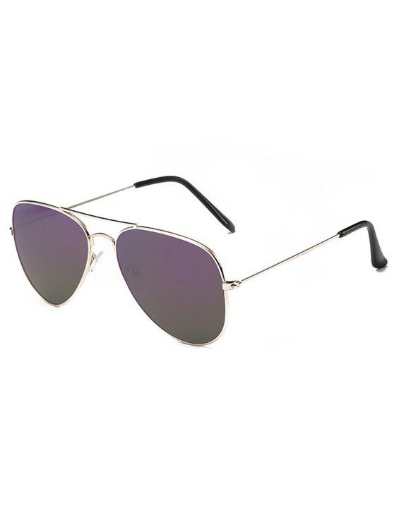 shop Retro Crossbar Pilot Sunglasses - DULL PURPLE