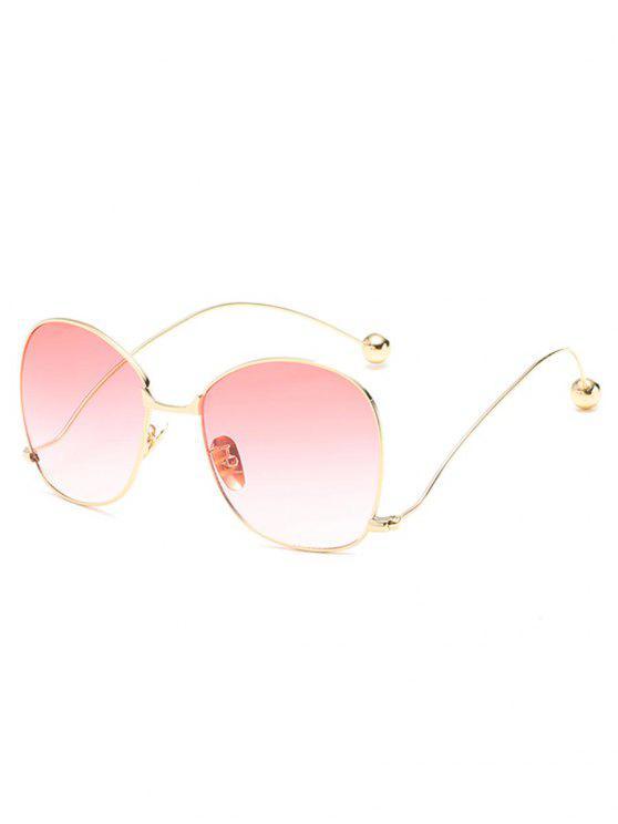 affordable Novelty Metal Frame Bent Legs Sunglasses - PIG PINK