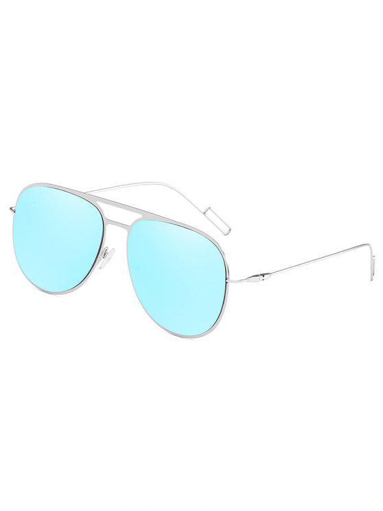 buy Metal Frame Crossbar Novelty Sunglasses - DEEP SKY BLUE