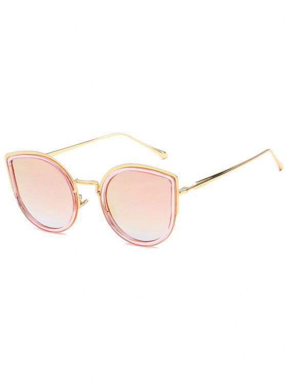 lady Retro Metal Frame Catty Sunglasses - PIG PINK