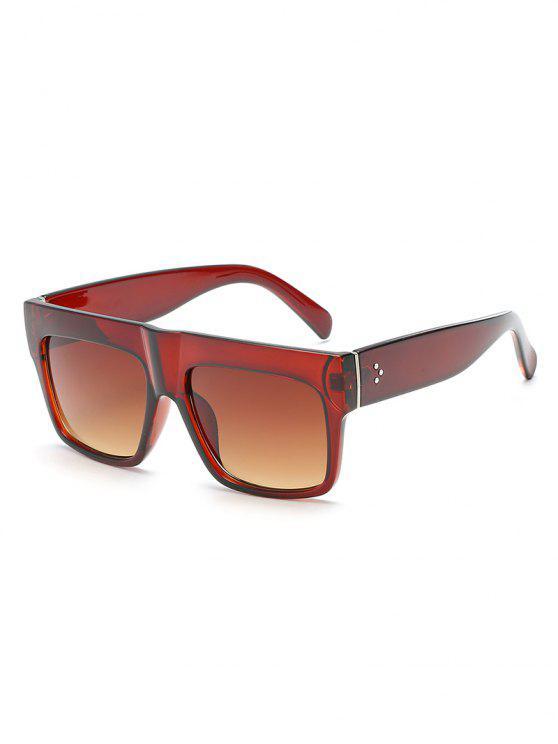 buy Anti Fatigue Flat Lens Driving Sunglasses - CAMEL BROWN