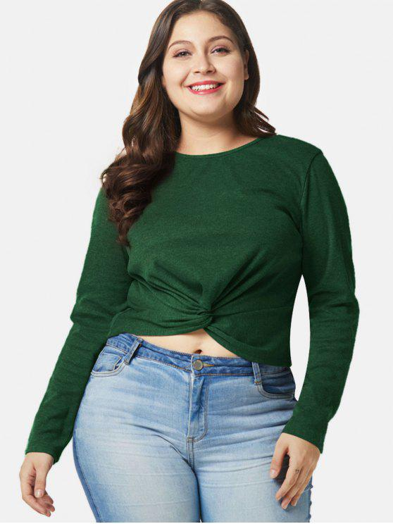 Round Neck Half Sleeves Bottle Green T Shirt For Women