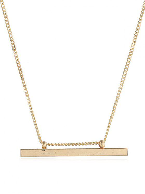 best Alloy Bar Shape Pendant Necklace - GOLD