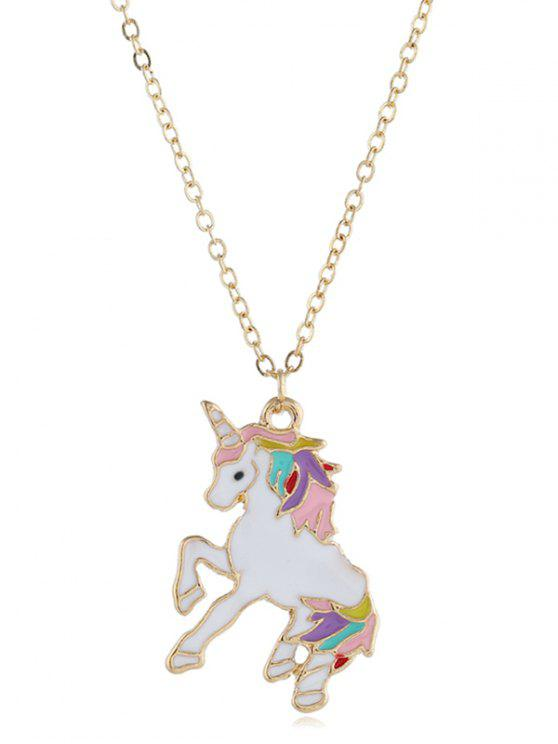 buy Alloy Unicorn Shape Drop Necklace - GOLD