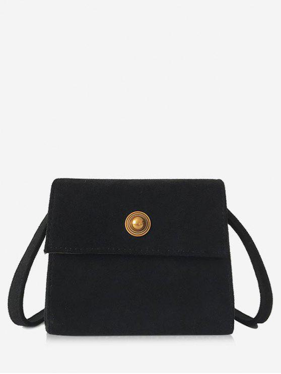 154f32e6 Mini Scrub PU Leather Crossbody Bag BLACK LIGHT KHAKI