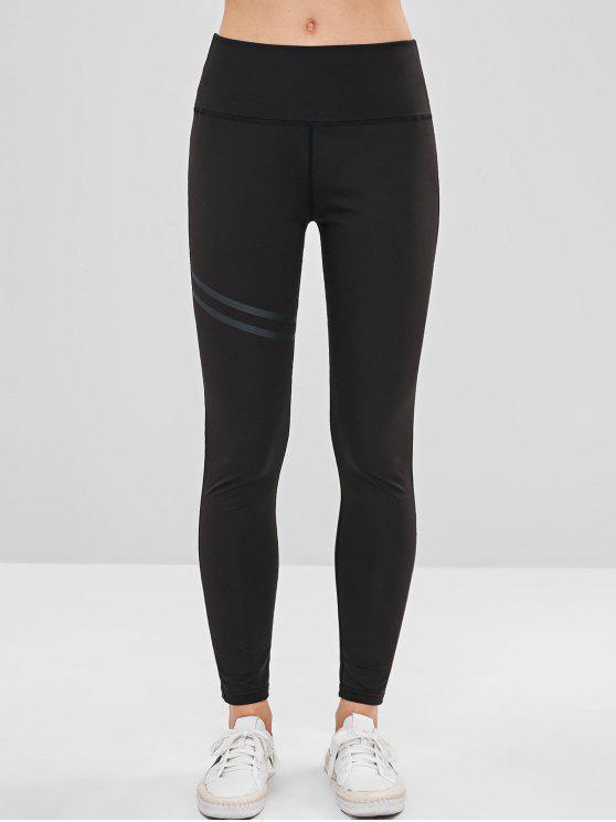 Leggings de ioga de costura - Preto XL