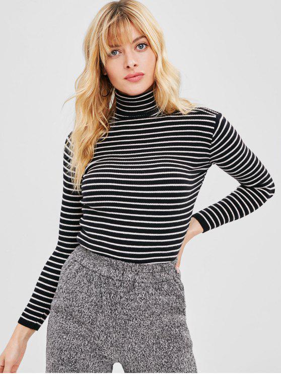 Ребристый Slim Fit Полосатый свитер с перчатками - Многоцветный Один размер