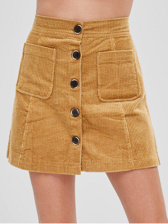 01a0b2fc8 Falda de bolsillo con botones de pana