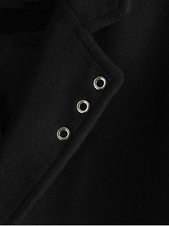 BoutonnageNoir Poche S Avec Rabat Simple Manteau À N0PX8nZkwO