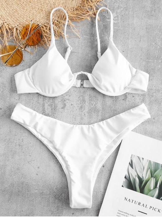 hot ZAFUL Cami Underwire Bikini Set - WHITE S