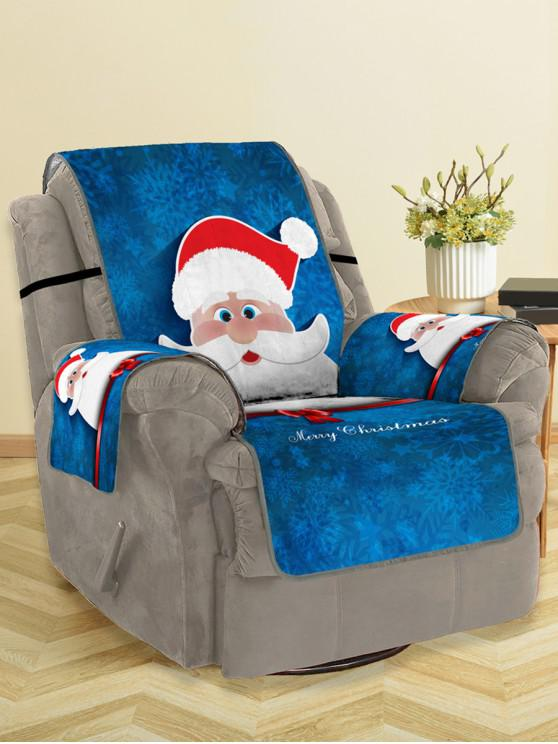 unique Christmas Santa Claus Pattern Couch Cover - MULTI SINGLE SEAT