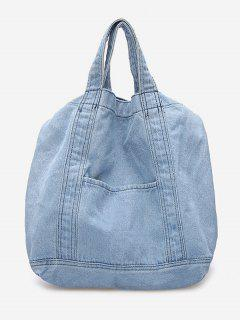 Cowboy Jeans Style Handbag - Sky Blue