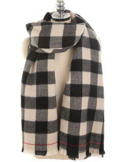 Plaid Pattern Long Scarf - Night