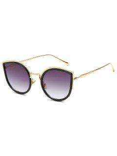 Retro Metal Frame Catty Sunglasses - Black