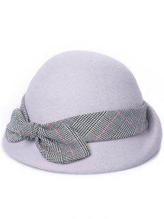 Vintage Bowknot Lace Cloche Hat - Gray Goose