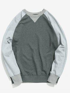 Color Block Basic Sweatshirt - Gray Xl