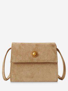 Mini Scrub PU Leather Crossbody Bag - Light Khaki