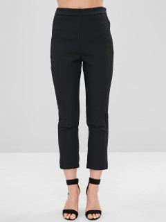 Peg Leg Ankle Pants - Black M