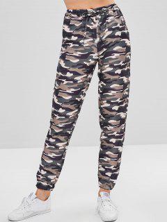 Drawstring Camouflage Pants - Acu Camouflage M